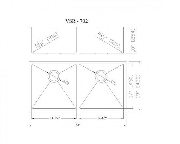 VSR702 CAD Drawing 600